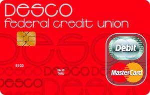 Desco federal credit union debit card art